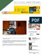 Access control with Arduino + Keypad 4x4 + Servo