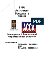Management Process and Organizational Behavior Complete
