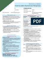 Ficha de Seguridad Formaldehico 2014