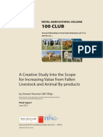 A Creative Study Into the Scope for Increasing Value From Fallen Livestock and Animal by-products