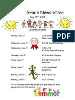 fourth grade newsletter final