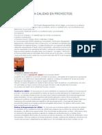 Gestión de La Calidad en Proyectos Tipo Epcm