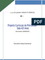 Projecto Curricular Sala A