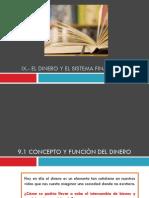 Tema IX Dinero y Sistema Financiero