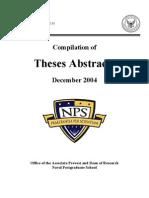 Naval Postgraduate School Monterey, California 93943-5138 NPS-09!05!002