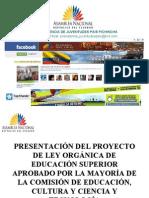 PROYECTO LEY DE EDUCACIÓN SUPERIOR