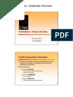 E-Net Overview January 2012