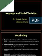 Presentación Language and Social Variation