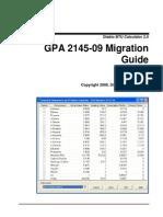 GPA 2145-09 Migration Guide