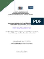 Relatório de Estruturas de Aeronaves - Laboratório V - Flambagem em Colunas