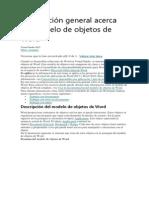 Información General Acerca Del Modelo de Objetos de Word
