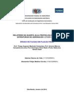 Relatório de Estruturas de Aeronaves - Laboratório IV - Flexão em Placas Finas