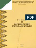 Dallet Dictionnaire Francais Kabyle