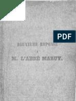 Edmond de Chazal Je Suis Apostat Deuxieme Reponse a L'Abbe Mazuy Ile Maurice 1859