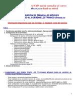 Configuracion Terminales Moviles Para El Acceso Al Correo Nauta