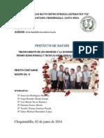 Mejoramiento de Los Ingresos y La Economía Familiar Promoviendo Formas y Técnicas Genradoras de Ingresos
