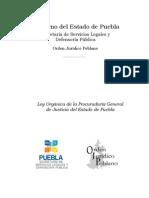 Ley Organica de La Procuraduria General de Justicia Del Estado de Puebla