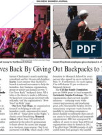 Company Gives Back By Giving Out Backpacks to Homeless