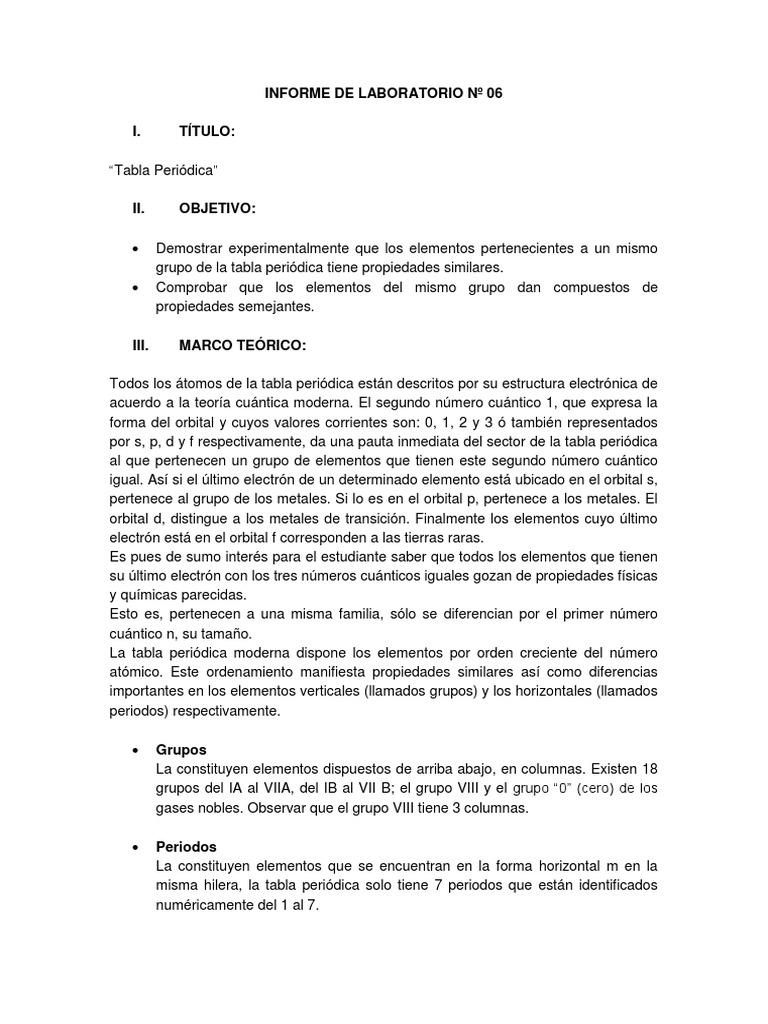 Informe 6 tabla periodica urtaz Choice Image