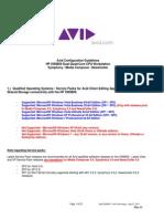 AVID HP XW8600 Configuration Guide Rev H