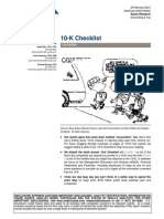10 K Checklist Credit Suisse
