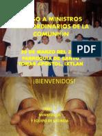 1 Curso a Ministros Extraordinarios de La Comunión