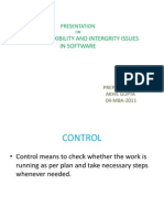 flexibility,Control and Integrity Issues in Software