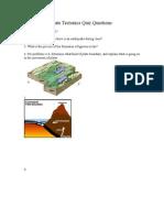 plate tectonics quiz questions