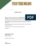Modelo Certificacion Laboral