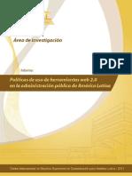 Herramientas web 2.0 y uso en la administración pública