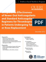 Comparative Effectiveness of Newer Oral Anticoagulants and Standard Anticoagulant