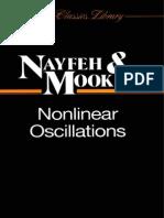 Nayfeh, Ali Hasan & Dean T. Mook - Nonlinear Oscillations (1995)