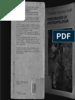 Dizionario Di Antropologia Charlotte Seymour Smith