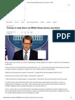 Carney to Step Down as White House Press Secretary _ Fox News