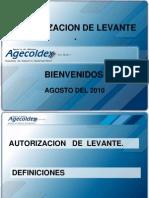 Autorizacion de Levante - 2
