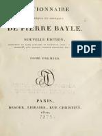 Dictionnaire Bayle Pierre Tomme 1