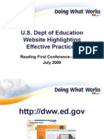 Effective Practices From Doing What Works