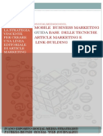 Guida Digital #SOCIALMEDIASCHOOL MOBILE  BUSINESS MARKETING GUIDA BASE  DELLE TECNICHE  ARTICLE MARKETING E LINK-BUILDING Digital Marketing