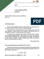 Solução Para Equações Do Terceiro e Segundo Graus - Carlos G Moreira e Elon Lages