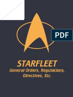 Starfleet General Orders, Regulations, Directives, etc