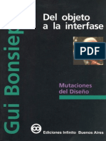 Del Objeto a La Interfase - Bonsiepe