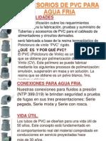 Accesorios de Pvc Para Agua Fria