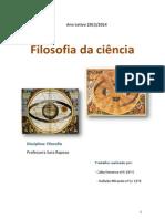 Trabalho - Filosofia Da Ciência - Rafaela Miranda e Cátia Fonseca 11ºE