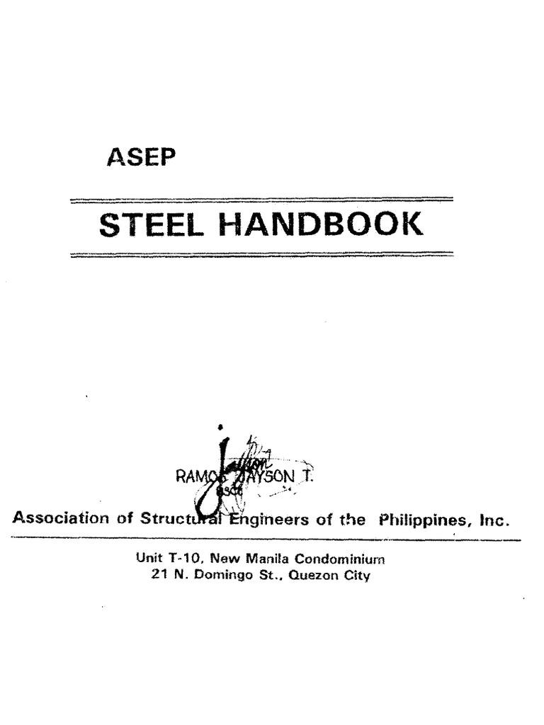 ASEP+Steel+Handbook | Buckling | Structural Steel