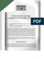 Conceptos de Curriculo y Propositos Del Estudio Curricular