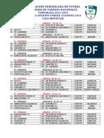 Calendario 2da Division Clausura 2014