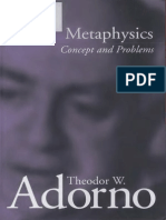 Adorno Metaphysics
