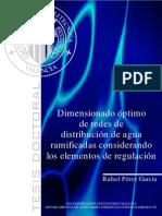 Dimensionamiento Optimo de Redes de Distribucion de Agua Ramificadas