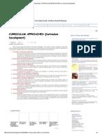 CURRICULUM APPROACHES (Curriculum Development)