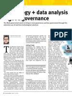 Technology + data analysis = good governance
